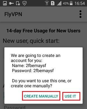Flyvpn Account
