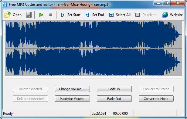 Download - tải Free MP3 Cutter and Editor - Phần mềm chuyên