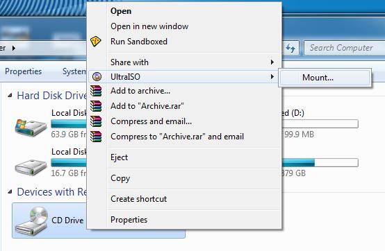Download - tải UltraISO Premium - Tạo file iso, tạo ổ ảo