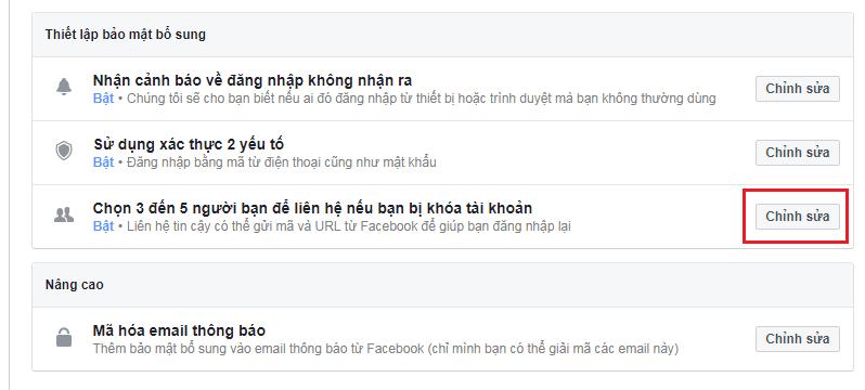 Kết quả hình ảnh cho liên hệ tin cậy facebook