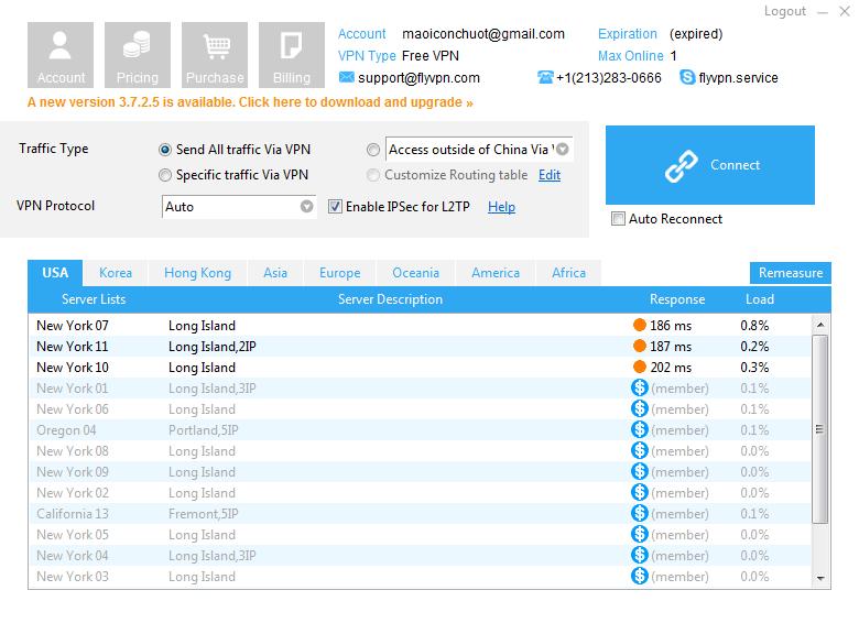 Download - tải FlyVPN - Ẩn IP máy tính
